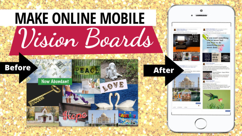 Online Mobile Vision Board blogpost by Miss Wells
