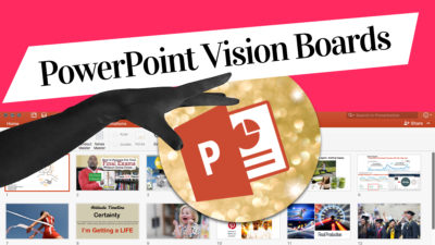 PowerPoint Vision Boards blogpost by Miss Wells